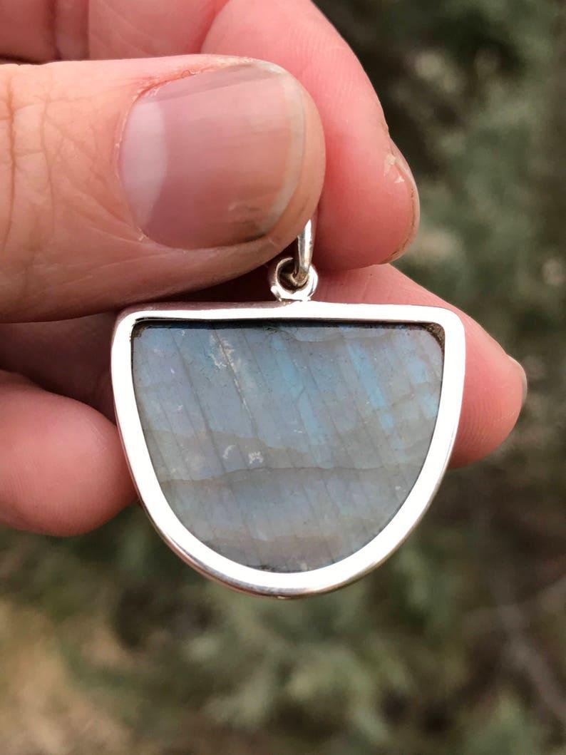 Ocean Flash Labradorite Pendant