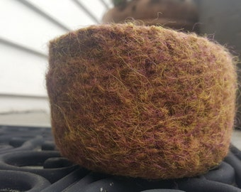 Felted Bowl in a Warm Tobacco Brown