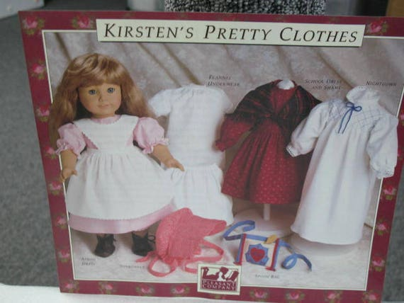 Vintage American Girl Doll Kirstens Clothing Patterns Etsy