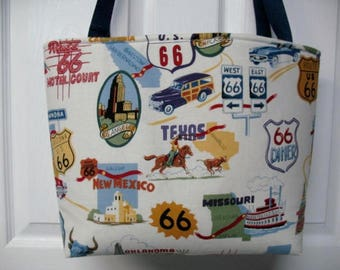 Route 66 Tote Bag Ready To Ship
