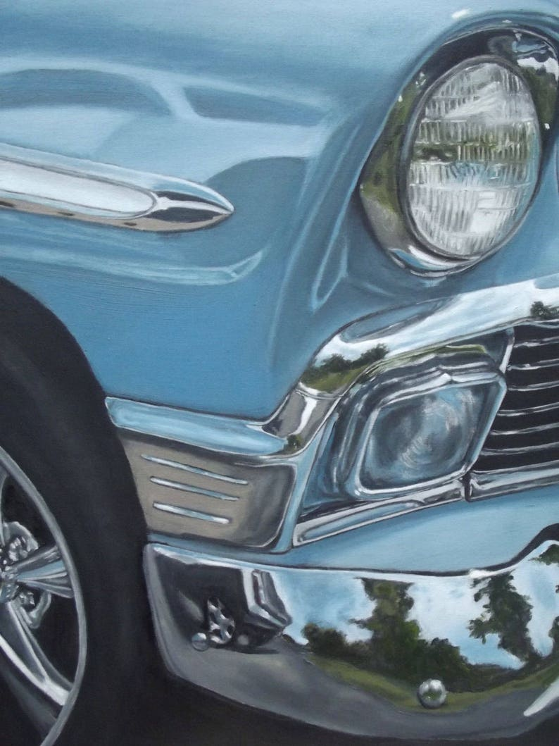 56 Chevy Nomad Print of Original Oil Painting image 0