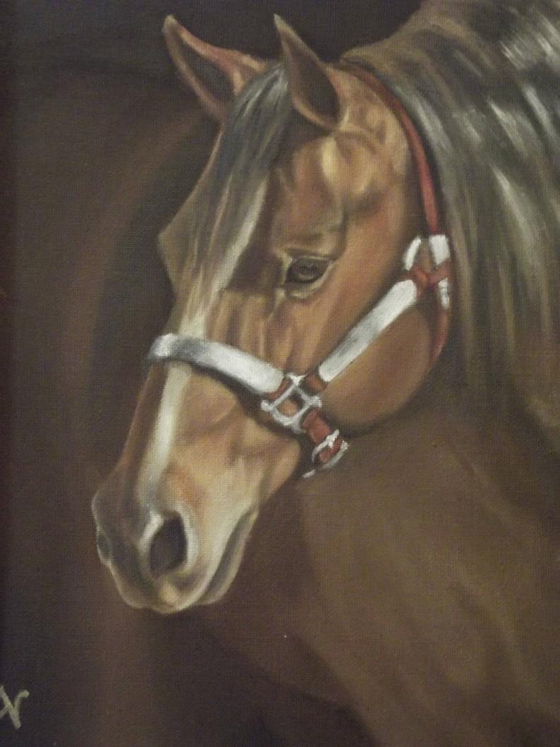 Gentle Spirit  Horse Print of Oil Painting image 0