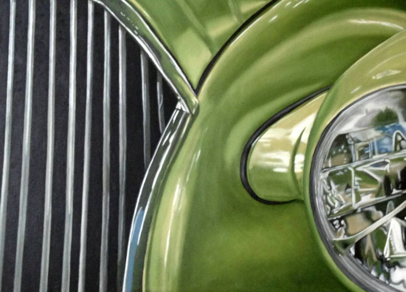 1937 Chevy Classic Car Print of Original Oil Painting image 0