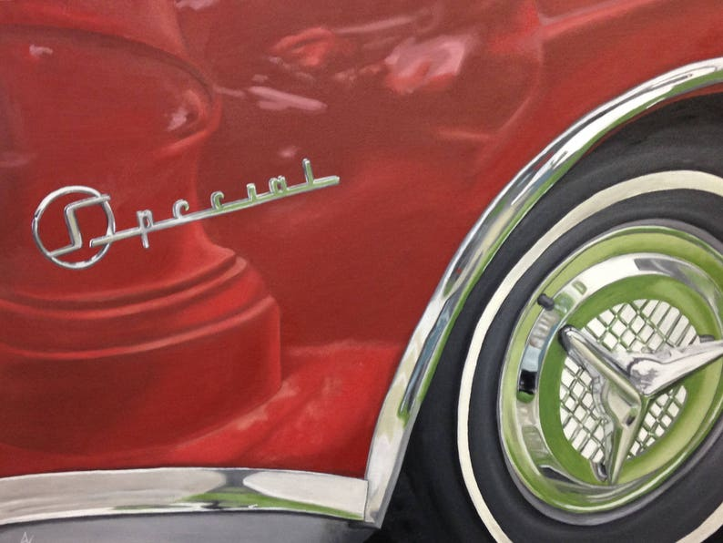 Buick Special  Print of Original Oil Painting image 0