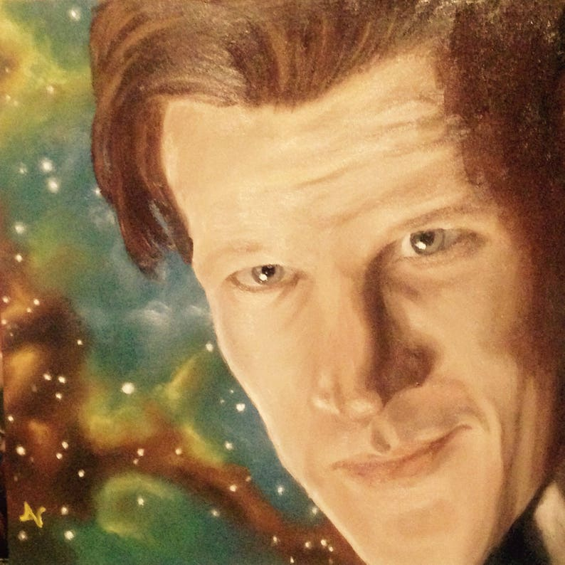 Doctor Who 8x8 Print of Original Oil Painting Eleventh image 0