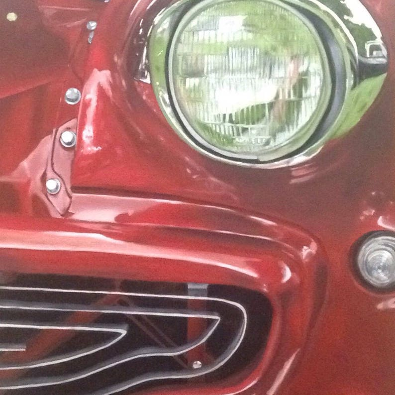Buick Special Smile Print of Original Oil Painting image 0