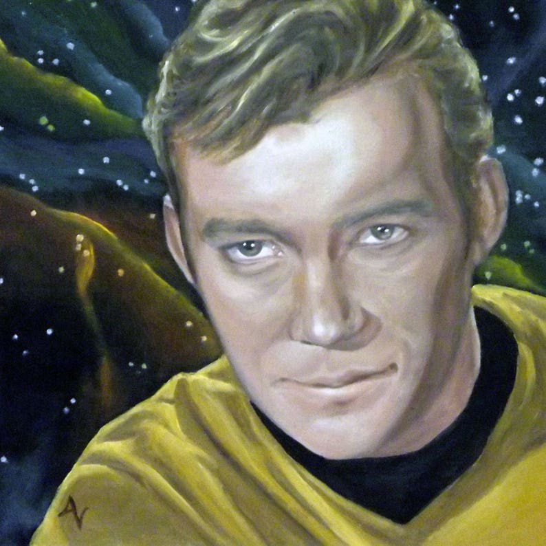 Captain Kirk Star Trek William Shatner 8x8 Print of image 0