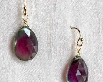 Earrings: Simply Red (and Green)