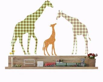 Kinderzimmer wandgestaltung giraffe  Kinderzimmer Giraffe Wandtattoo Giraffe Familie Wand | Etsy