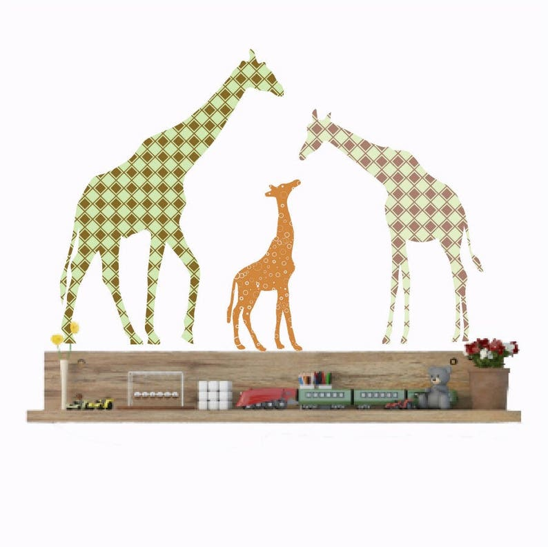 Giraffe Wand Aufkleber Kinderzimmer Wandtattoo Giraffe Dekor | Etsy