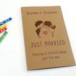 Wedding favor for kids / kids wedding coloring book / kids wedding activities / rustic wedding activity book / kids wedding table - Set of 6