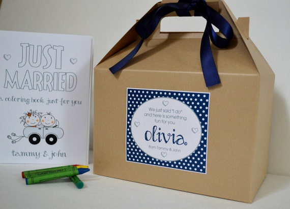 Personalized Kids Wedding Favor Box Kids Wedding Activity Etsy