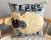 Cherry core pillow heat pillow with name name namescey gifts for birth children's pillow shieous pillow sheep shepherds