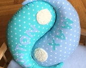 Pillow named Name Pillow twins Siblings gifts to give birth To Children'S Pillow Cuddle Pillow