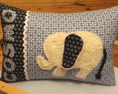 Cushion with name name name cushion gifts for birth children's pillow cuddle pillow discoverer pillow elephant