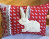 Cushion with name name name cushion gifts for birth children's pillow cuddle pillow bunny bunnies