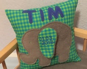 Cushion with name namescillis gifts for birth children's pillow cuddle pillow elephant
