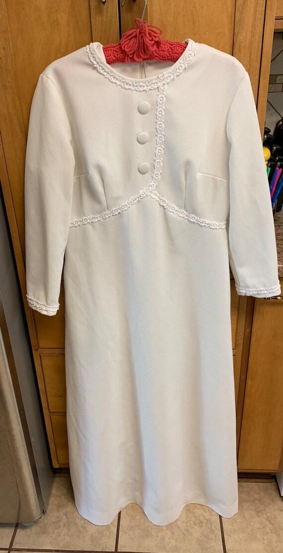 Vintage maxi dress, white vintage dress, vintage … - image 1
