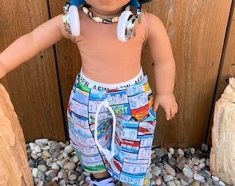 American Girl doll boy board shorts swim trunks