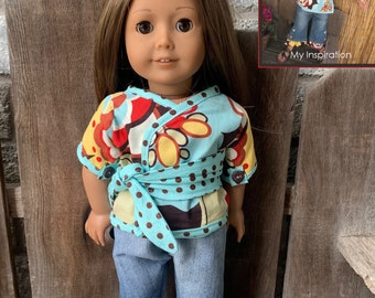 American Girl Doll kimono set KLEO outfit wrap top jeans