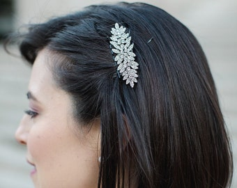 Crystal Wedding Hair Comb,Rhinestone Bridal Comb,Swarovski Crystal Headpiece,Vintage Bridal Side Comb,Bridal hair comb,Wedding hair jewlery
