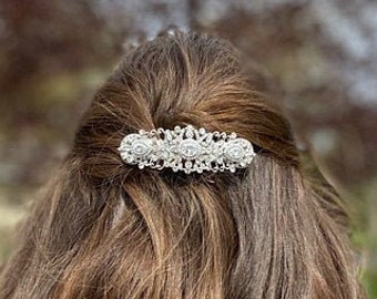 Wedding hair comb Silver,Gold,Rose gold Bridal hair comb Crystal Wedding comb Rhinestone Bridal comb Vintage style Wedding hair clipBarrette