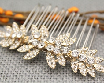 wedding hair accessories gold hair clip wedding hair comb Rhinestone hair comb Wedding comb Bridal hair jewelry Wedding head comb Bridal pin