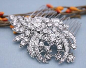 wedding hair comb silver Wedding hair jewelry Wedding comb Crystal hair piece Bridal hair comb Rhinestone hair comb Bridal hair piece Boho