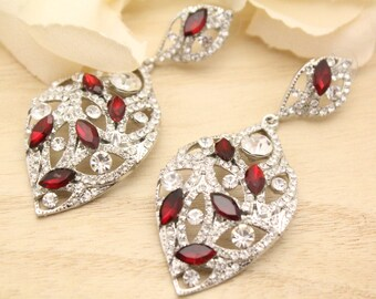 wedding earrings bridesmaid bridal earrings chandelier wedding jewelry sets for brides something blue Bridal jewelry set Rhinestone earrings