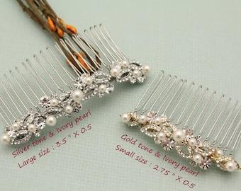 Wedding hair accessories boho hair comb Wedding hair comb Silver Bridal hair comb Vintage style Bridal comb Pearl hair comb Prom hair comb