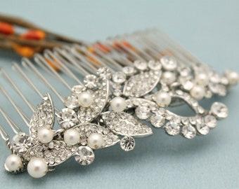 Bridal hair accessories bobby pins Wedding hair piece Pearl hair comb Wedding hair comb Crystal Hair pins Bridal hair comb Rhinestone Bridal