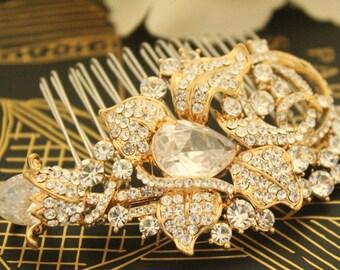 bridal comb crystal hair comb Wedding hair accessories Rhinestone hair comb Bridal hair jewelry Wedding headpiece Bridal hair clip Wedding