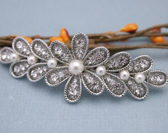 Vintage Inspired Wedding barrette,Bridal hair accessory,Bridal hair comb,Wedding hair accessory,Bridal barrette,Wedding hair clip,bridal