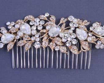 bridal hair clips,hair vine Bridal hair comb rose gold Wedding comb vintage Style Wedding hair comb silver Wedding headpiece Bridal comb