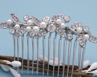 bridal hair comb silver,Gold,Rose gold Wedding hair comb,Pearl hair comb,Vintage style Wedding comb Wedding hair jewelry Bridesmaid hair pin