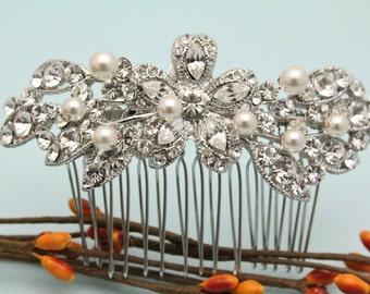wedding hair accessories pearl wedding hair comb boho wedding comb for hair Bridal hair comb Crystal hair pins Vintage style Bridal comb pin