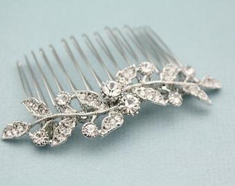 Bridal hair accessories,Wedding hair jewelry,Wedding hair comb Crystal hair pins Bridesmaid hair comb Prom hair comb Silver Bridal hair comb