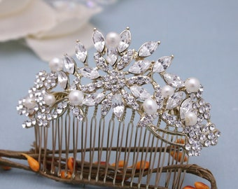 wedding comb bridal Wedding hair comb Pearl hair comb Wedding hair piece Bridal head comb Bridal comb Wedding hair pins Bridal hair barrette