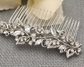 Boho Wedding hair comb Rose gold hair comb Wedding Bridal hair comb Crystal Hair Piece Wedding hair accessories Rose gold hair piece Crystal
