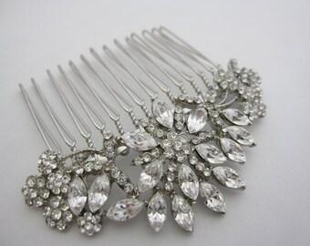 Bridal headpiece,bridal hair comb,Wedding hair comb,bridal comb,vintage inspired hair comb,rhinestone hair comb,crystal hair comb,Boho Hair