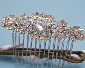 bridal hair accessories gold Wedding hair piece Crystal hair comb Wedding hair jewelry Bridal hair comb Rose gold Wedding comb Boho hair pin