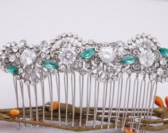 bridal hair comb rhinestone hair accessories Vintage style Wedding hair comb Crystal hair piece Wedding hair clip Bridal hair jewelry Prom