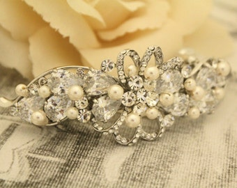 wedding barrette crystal