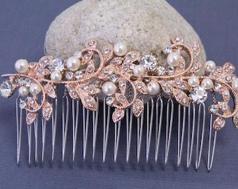 bridal hair comb pearl and Crystal Wedding hair comb Rhinestone Wedding comb Vintage style Bridal comb Wedding hair jewelry Bridal hair clip