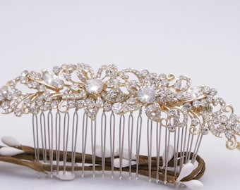 Vintage style Wedding hair piece Crystal hair comb Boho hair vine Wedding hair comb Rhinestone hair comb Bridal comb Wedding hair clip Prom