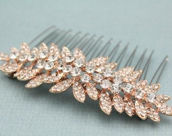 wedding comb for bride boho Silver Wedding hair comb Gold Wedding hair clip Rose gold Bridal hair comb Crystal hair pins Bridal comb Prom