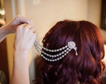 Wedding hair chain