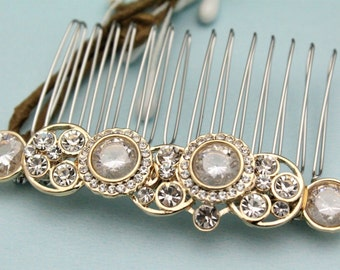 wedding comb for veil wedding hair comb gold wedding hair piece rose gold wedding headpiece boho bridal hair comb vintage style Bridal comb