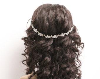 Wedding hair chain wedding hair band wedding hair vine wedding headband Wedding hair accessories bridal hair chain bridal headband wedding