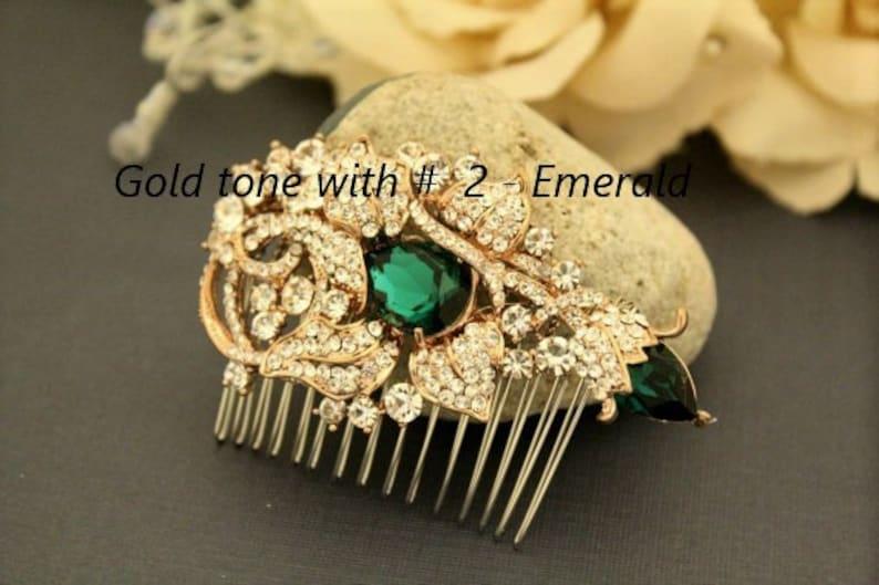 Bridal hair accessories comb Crystal hair comb Rhinestone Wedding hair comb Bohemian Bridal hair comb Boho Wedding comb Silver bridal comb